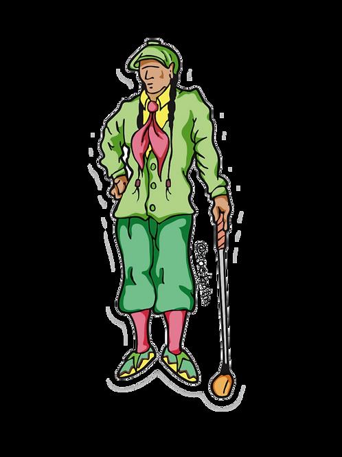 Native Golfer Sticker