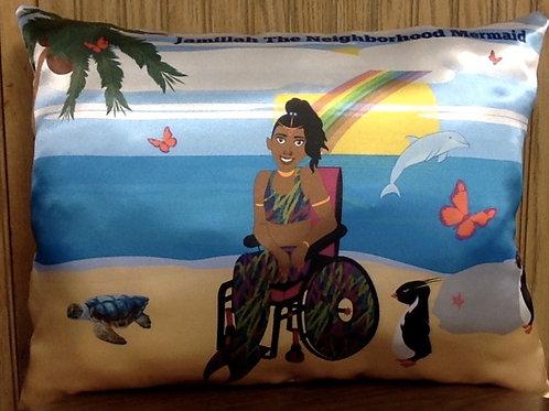 "Wheelchair Beauty Throw Pillow 14""L x 19""W"