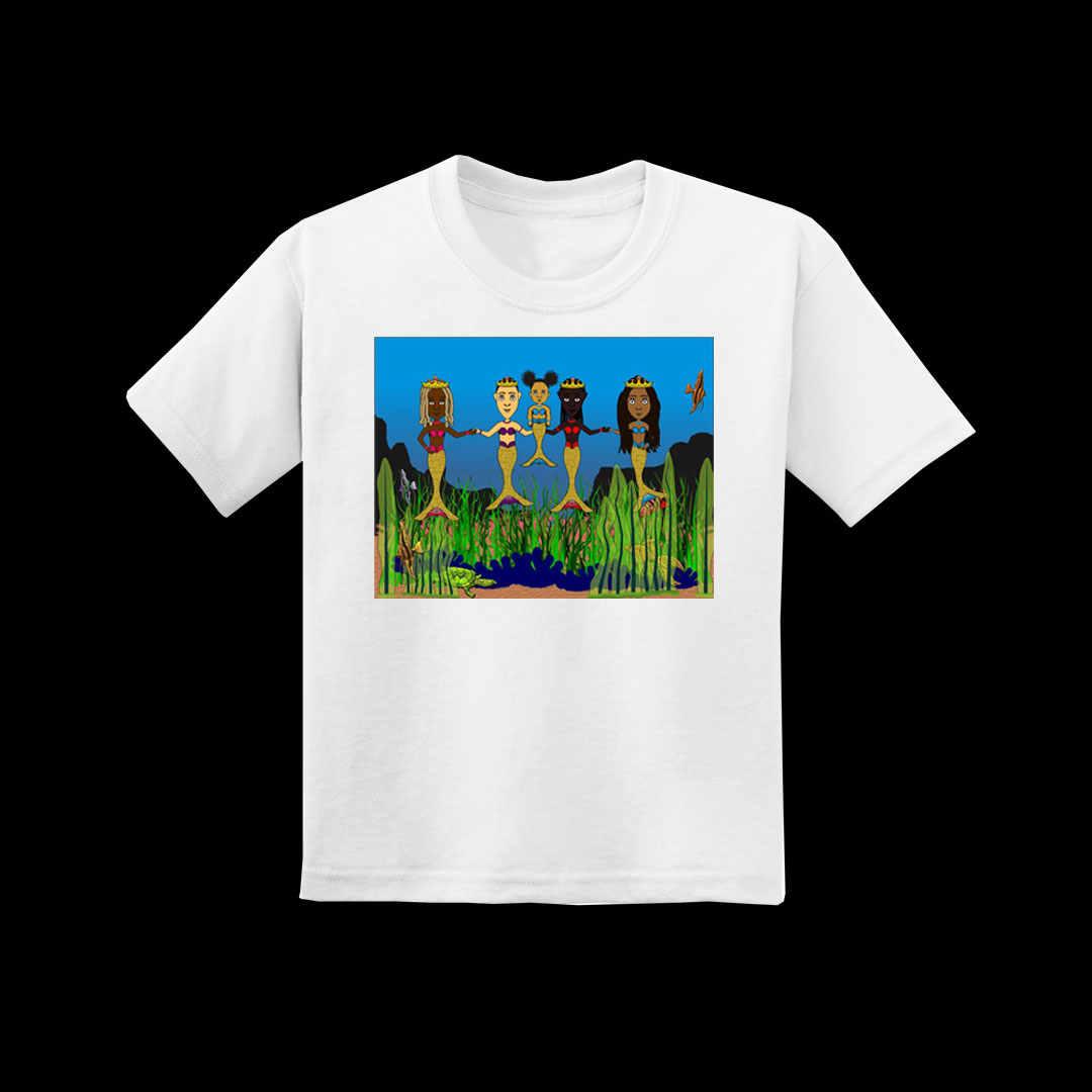 Youth White Mermaid T-shirt