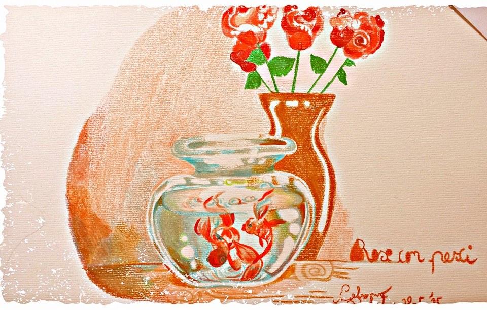 Rose con pesci