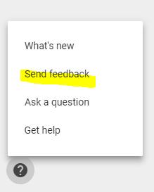 Send Google Feedback