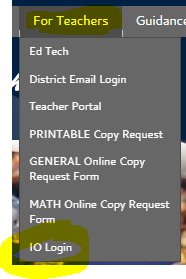IO Login on COHS Website