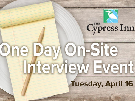 Hiring Event: Tuesday, April 16