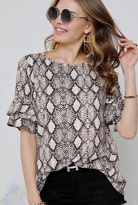 Dusty Snakeskin Top