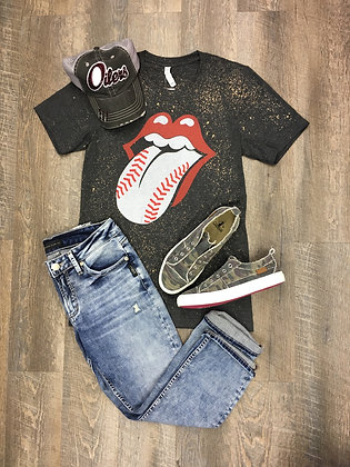 Baseball Mouth Acid Wash Grey