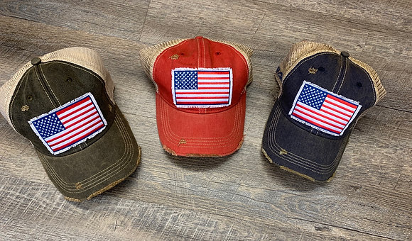 USA Flag trucker