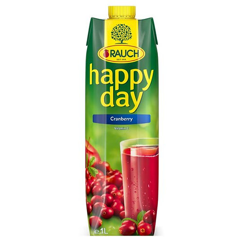 Rauch Happy Day Cranberry Juice 12*1 L