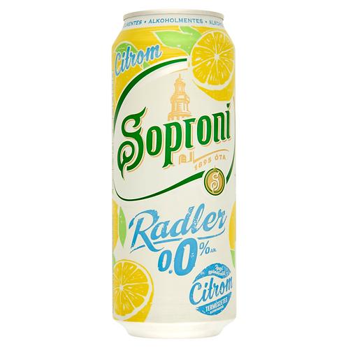 Soproni Non-alcoholic 24 *0.5L Lemon (case)