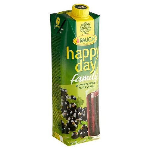 Rauch Happy Day Blackcurrant Juice 12*1 L