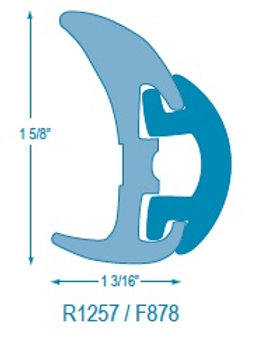 R1257 Rigid Rubrail (takes F878 Flexible Insert)