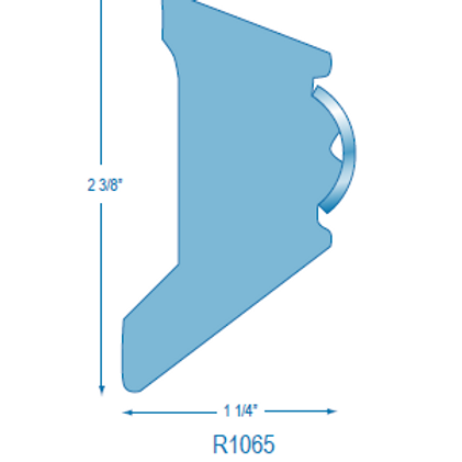 """R1065 Rigid Rubrail (takes 3/4"""" Hollow Stainless Steel)"""