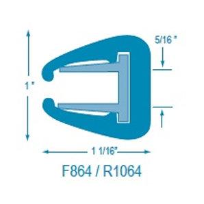 F864 Flexible U Molding (takes R1064 Rigid Insert)