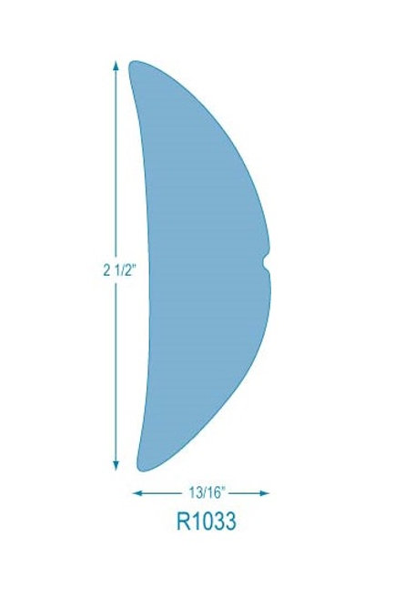 R1033 Rigid Half Oval