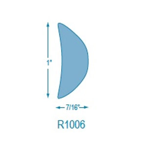 R1006 Rigid Half Oval