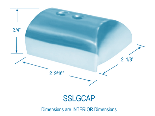 SSLGCAP Large Stainless Steel End Caps