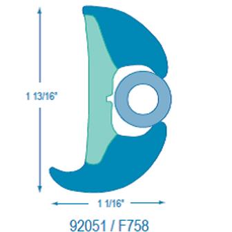F92051 Uniflex Rubrail (takes F758 Flexible Insert)
