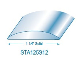 "STA125S: 1 1/4"" Solid Stainless Steel Trim"