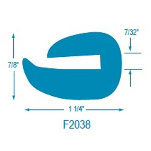 F2038 Flexible U Molding