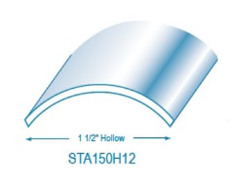 "STA150H12: 1 1/2"" Hollow Stainless Steel Trim"
