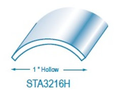 "STA3216H: 1"" Hollow Stainless Steel Trim"