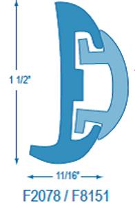 F2078 Flexible Rubrail (takes F8151 Insert)