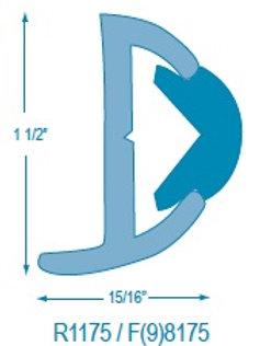 R1175 Rigid Rubrail (takes F98175 Flexible Insert)