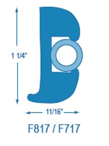 F817 Flexible Rubrail (takes F717 Insert)