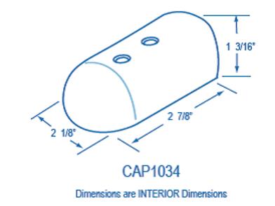 CAP1034 Plastic End Cap