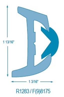 R(9)1283 Rigid Rubrail (takes F98175 Flexible Insert)