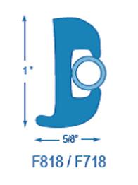 F818 Flexible Rubrail (takes F718 Insert)