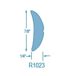 R1023 Rigid Half Oval