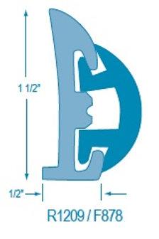 R1209 Rigid Rubrail (takes F878 Flexible Insert)