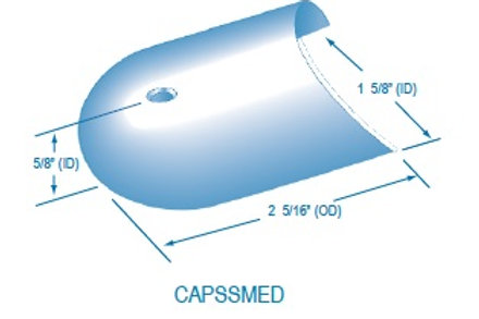 CAPSSMED Medium Stainless Steel End Cap