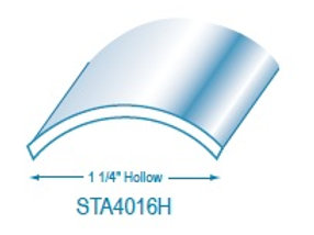"""STA4016H: 1 1/4"""" Hollow Stainless Steel Trim"""