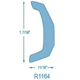 R1164 Rigid Solid Rubrail