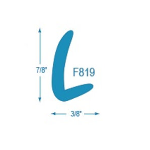F819 L Molding (Trim often used in conjunction with F878)