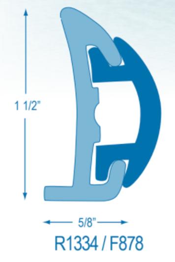 R1334 Rigid Rubrail (takes F878 Flexible Insert)
