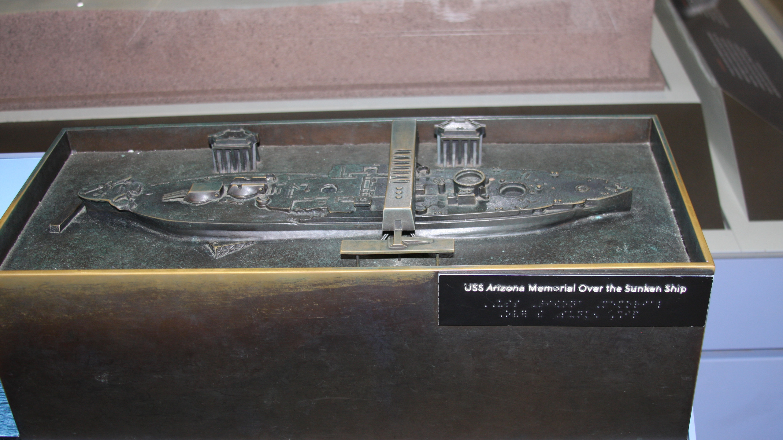 Small Replica of USS Arizona