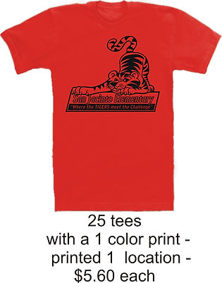 25 printed t shirts $5.60 @ Cross Creations