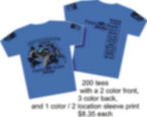 200 printed t-shirts $8.35 @ Cross Creations