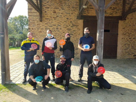 Disc-Golf : Sept angevins à l'Open de Roazhon