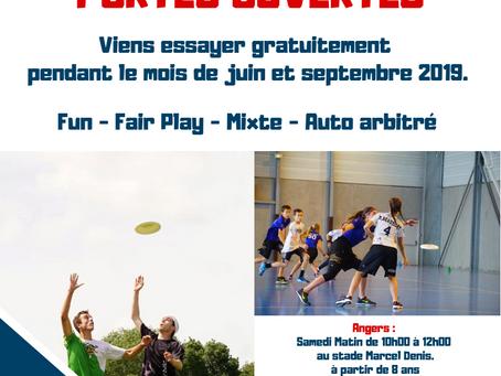 Portes Ouvertes : Venez découvrir l'Ultimate Frisbee !