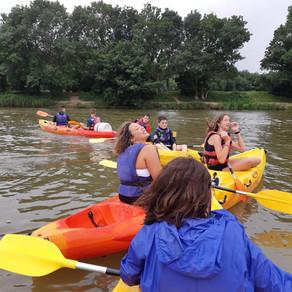Sortie canoë-kayak pour la fin de saison des Magic Disc d'Angers