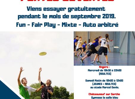 Portes Ouvertes : Venez découvrir l'Ultimate Frisbee à Angers en septembre !