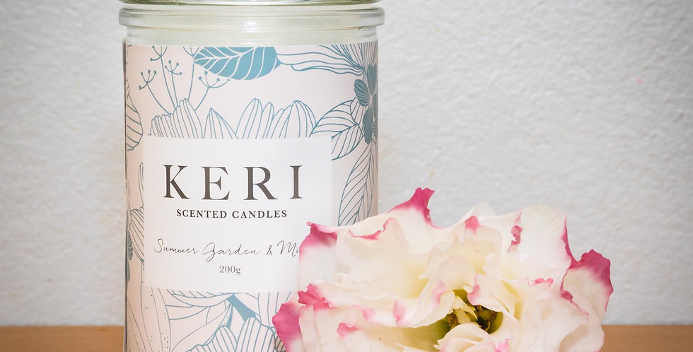 Keri - Summer Garden & Mint Scented Candle