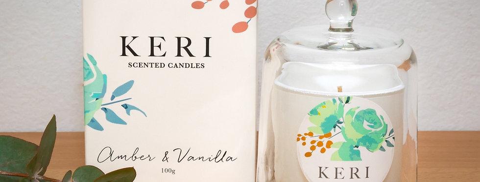 Keri - Amber & Vanilla Scented Candle