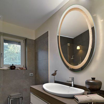 Backlit Mirror round relaxing decoration