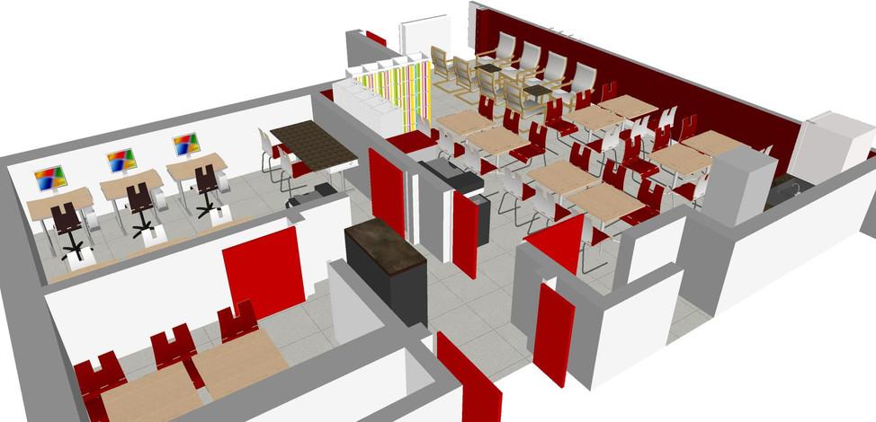 Salle des professeurs 3D solution mars 2