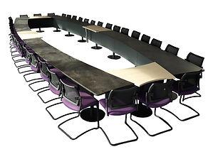Table de réunion, table de conférence