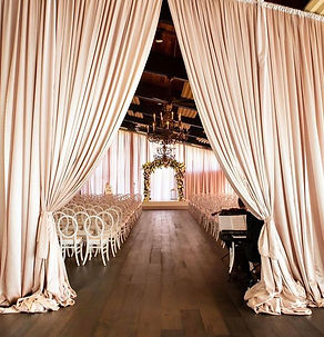 Terrace Wedding Was Transformed By Covering The Ceiling With 10ft. Wide  Super Voile Fabric. This Sheer Delicate Fabric Was Box Pleated By Hand And  Draped To ...